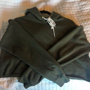 wild fable Tops - Cropped Dark Green Hoodie